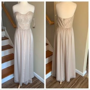 Jim hjelm occasions 5506 champagne/shimmer size 12
